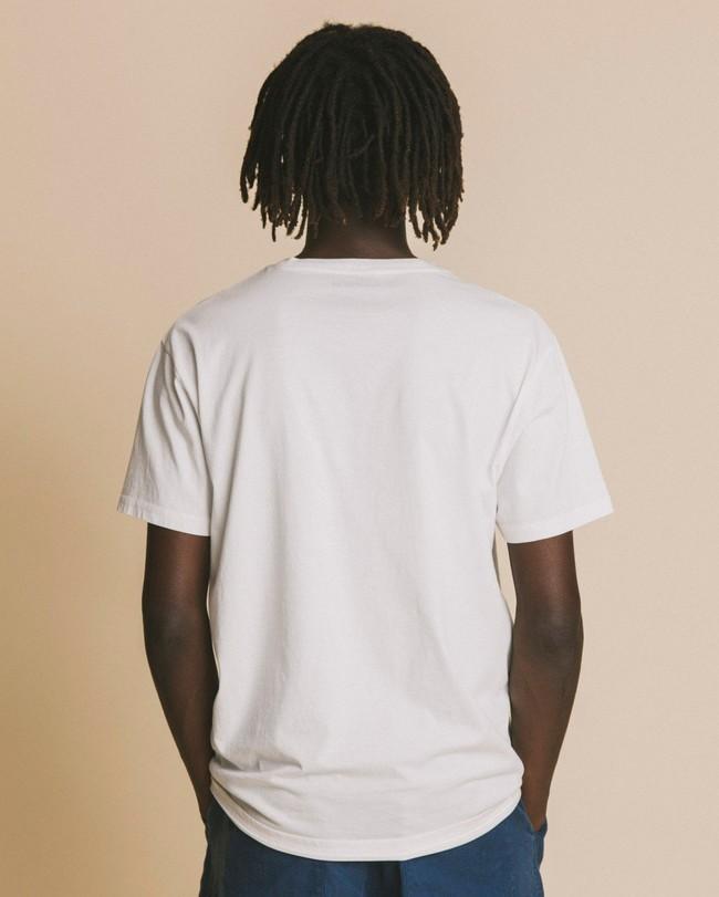 T-shirt blanc imprimé en coton bio - hope - Thinking Mu num 2