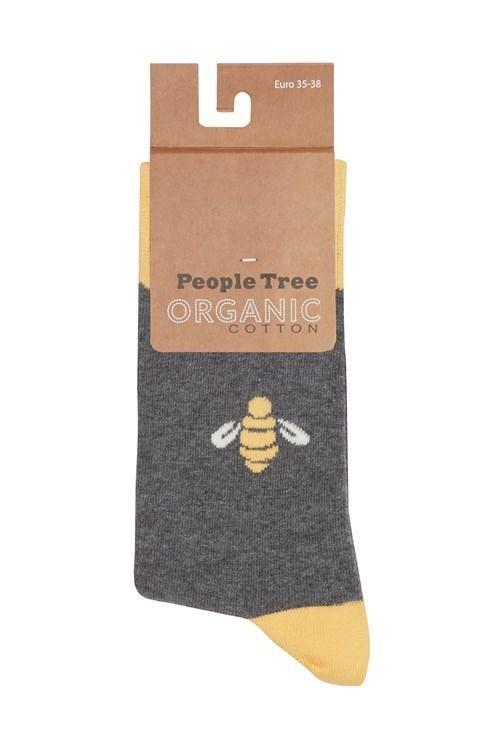 Chaussettes motif abeille en coton bio - bee - People Tree
