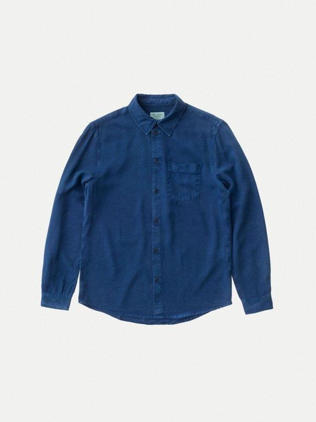 Chemise bleue en twill  - chuck smooth - Nudie Jeans num 5