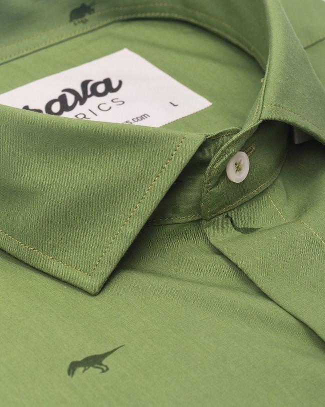 Green jurassic adventure printed shirt - Brava Fabrics num 3