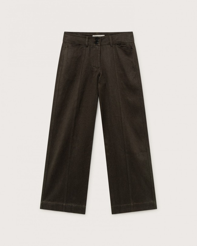 Pantalon large vert kaki en coton bio - kupalo - Thinking Mu num 4
