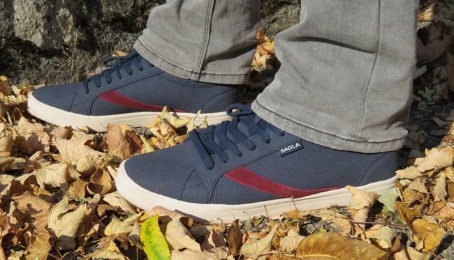 Chaussures recyclées cannon homme bleu - Saola num 1