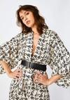 Kimono cassis // noir et blanc - Bagarreuse - 1