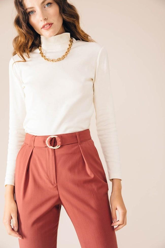 Pantalon tailleur casablanca rose brique - 17h10 num 1