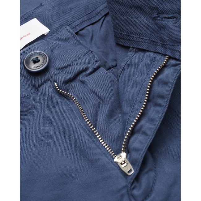 Chino slim indigo en coton bio - joe - Knowledge Cotton Apparel num 2