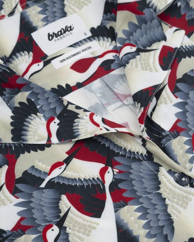 Crane for luck aloha blouse - Brava Fabrics num 2