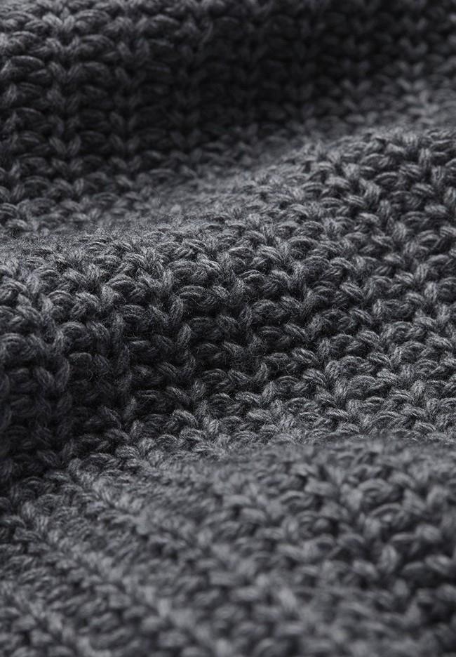 Pull en maille gris en coton et laine bio - saadie - Armedangels num 4
