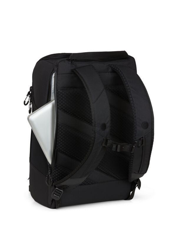 Sac à dos noir recyclé - cubik grand - pinqponq num 3