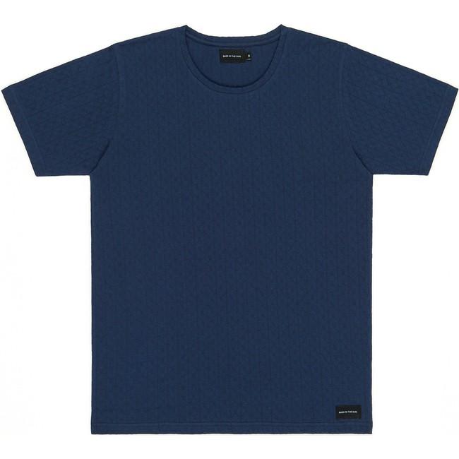 T-shirt en coton bio navy aimar - Bask in the Sun