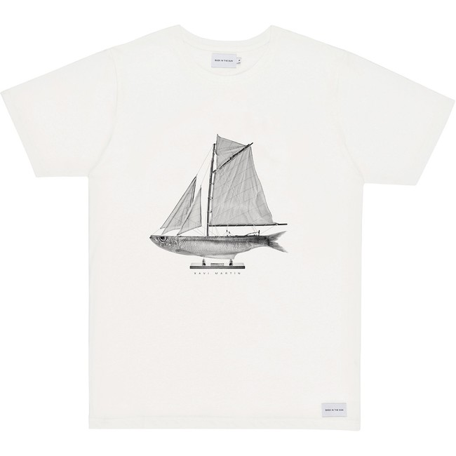 T-shirt en coton bio natural sardine - Bask in the Sun