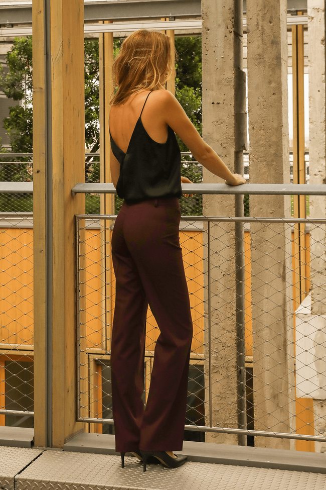 Pantalon tailleur berlin prune - 17h10 num 1