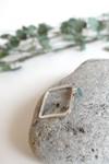 Bague carrée béton et argent - vert - Elle & Sens - 6