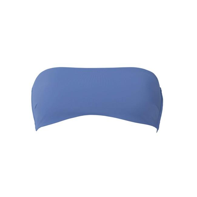 Haut de bikini bandeau bleu en polyamide recyclé - Ocealah num 2