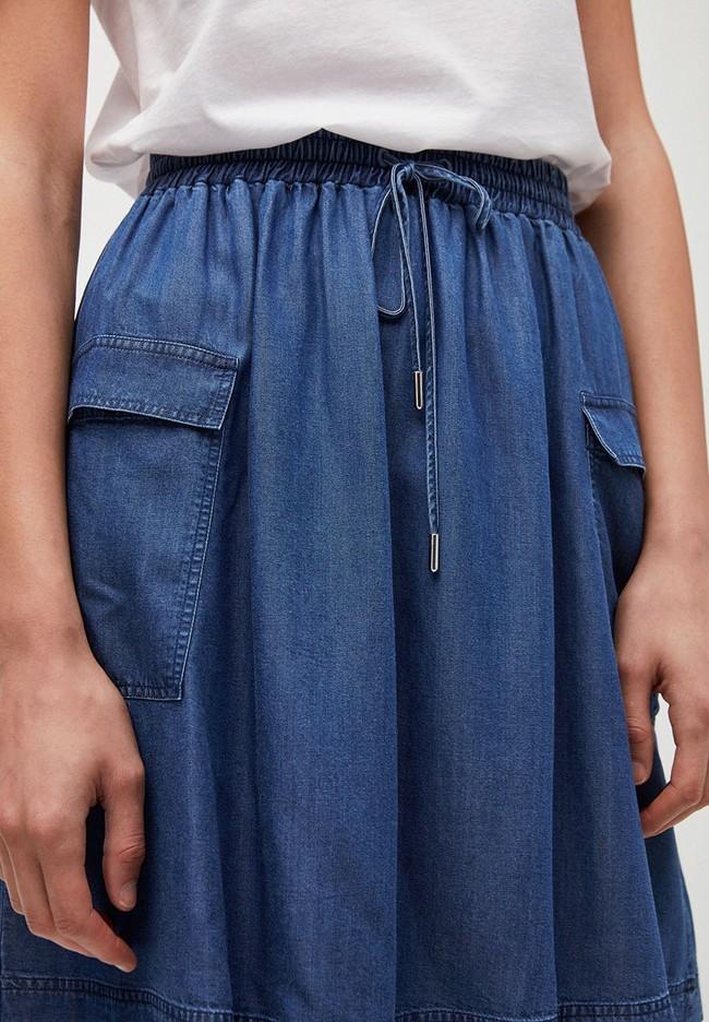 Jupe bleu jean en tencel - alonaa - Armedangels num 1