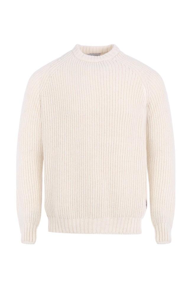 Pull raglan lapiaz - laine blanc écru - Maison Izard