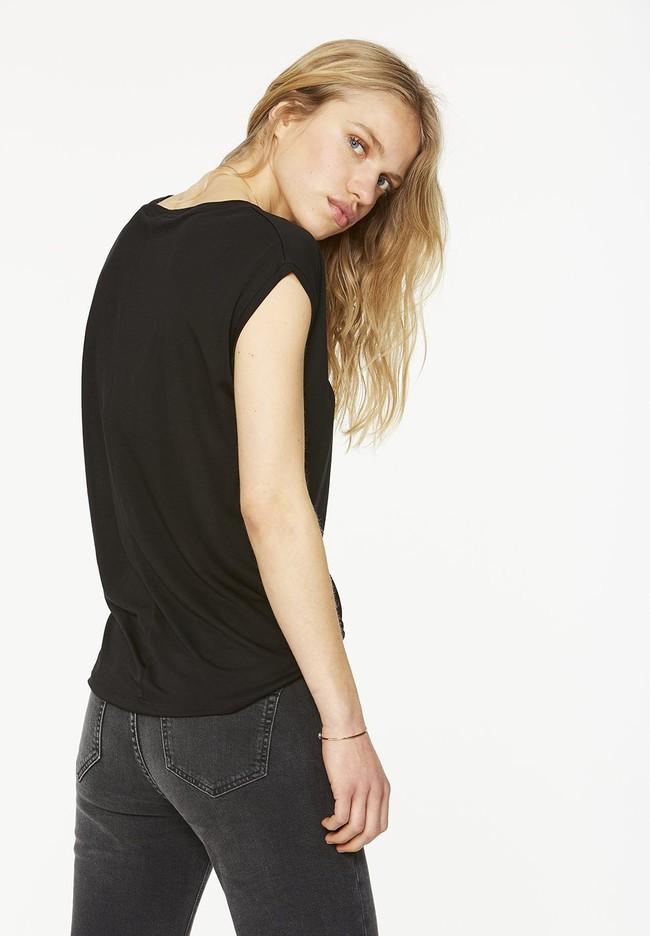 T-shirt uni noir en tencel - jilaa - Armedangels num 1
