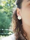 Boucles d'oreilles pilea en argent recyclé - Elle & Sens - 3
