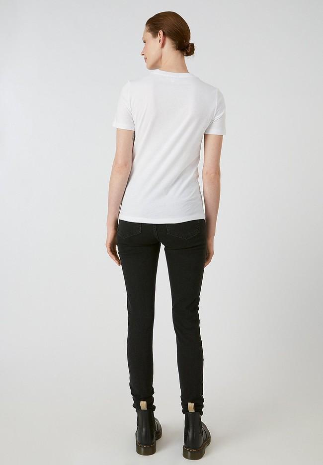 T-shirt blanc en coton bio - lidaa girls - Armedangels num 3