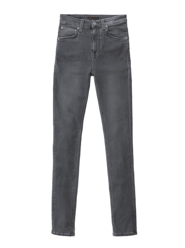 Jean skinny taille haute gris - hightop tilde concrete grey - Nudie Jeans num 5