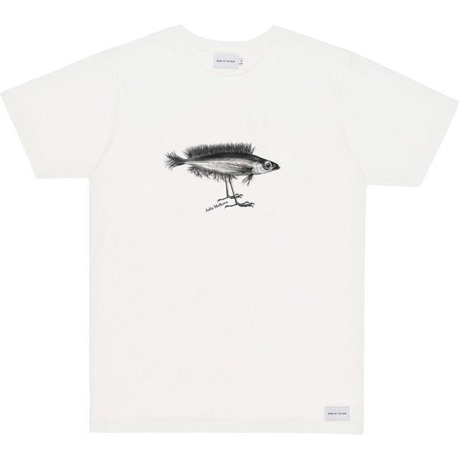 T-shirt en coton bio natural hybrid fish - Bask in the Sun