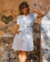 Portuguese tiles shirt dress - Brava Fabrics - 5