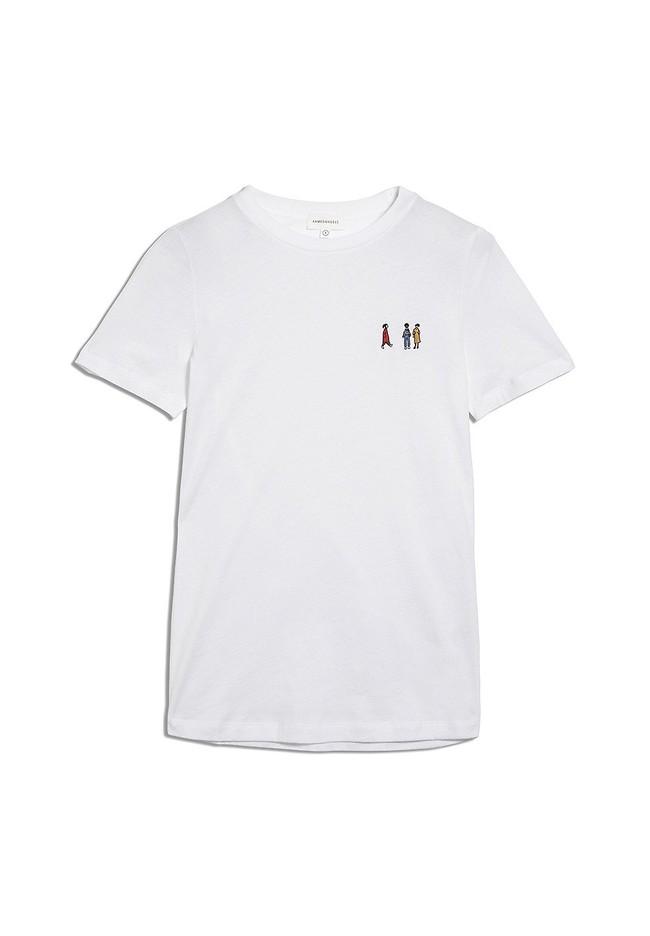 T-shirt blanc en coton bio - lidaa girls - Armedangels num 4