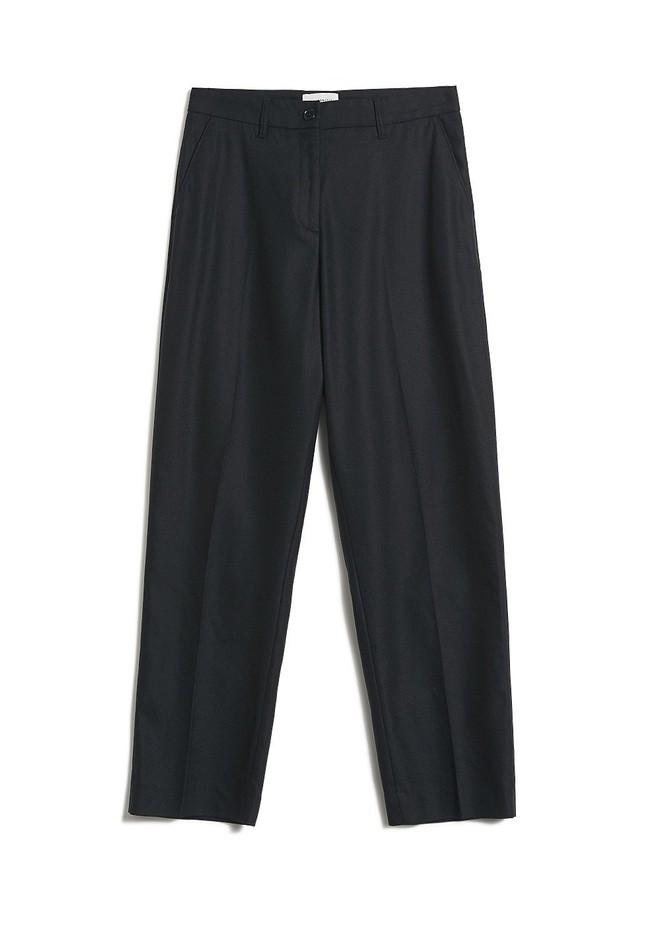 Pantalon à pinces noir en tencel - herttaa - Armedangels num 4