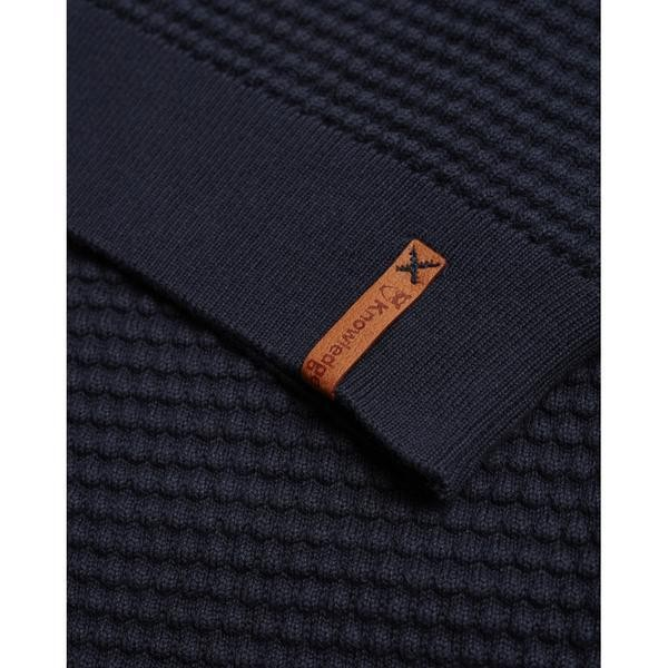 Pull bleu nuit en coton bio - sailor pattern knit - Knowledge Cotton Apparel num 3
