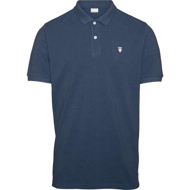 Polo bleu marine en coton bio - pique polo - Knowledge Cotton Apparel