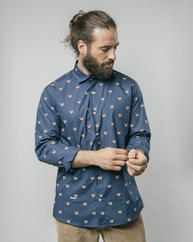 Fox in the snow shirt - Brava Fabrics