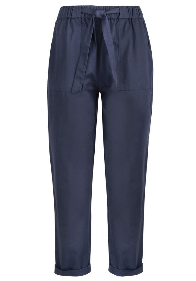Pantalons à pinces marine en coton bio - tinsley - People Tree num 4