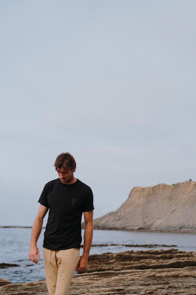 T-shirt recyclé - topo black - Hopaal num 1