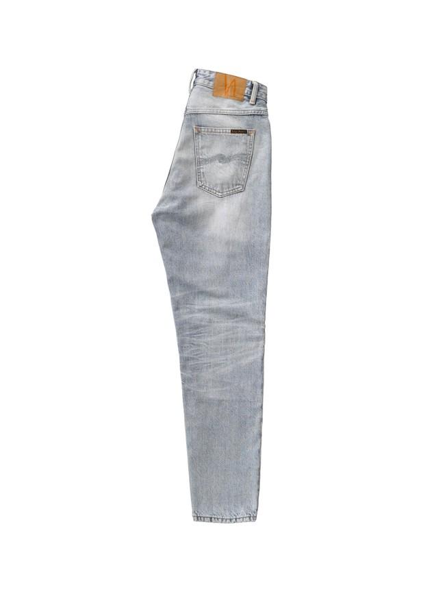 Jean mom gris clair délavé en coton bio - breezy britt light desert - Nudie Jeans num 6