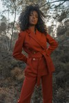 Veste mp rouge en coton - Maison People - 1