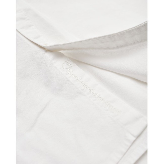 Chemise blanche en coton bio - stretched oxford - Knowledge Cotton Apparel num 3