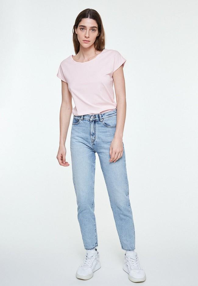 T-shirt uni rose pale en coton bio - laale - Armedangels num 3