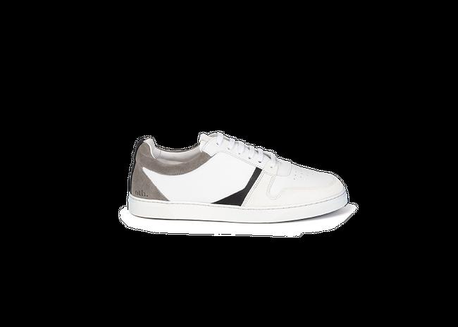 Chaussure en glencoe cuir blanc / suède gris clair - Oth num 3