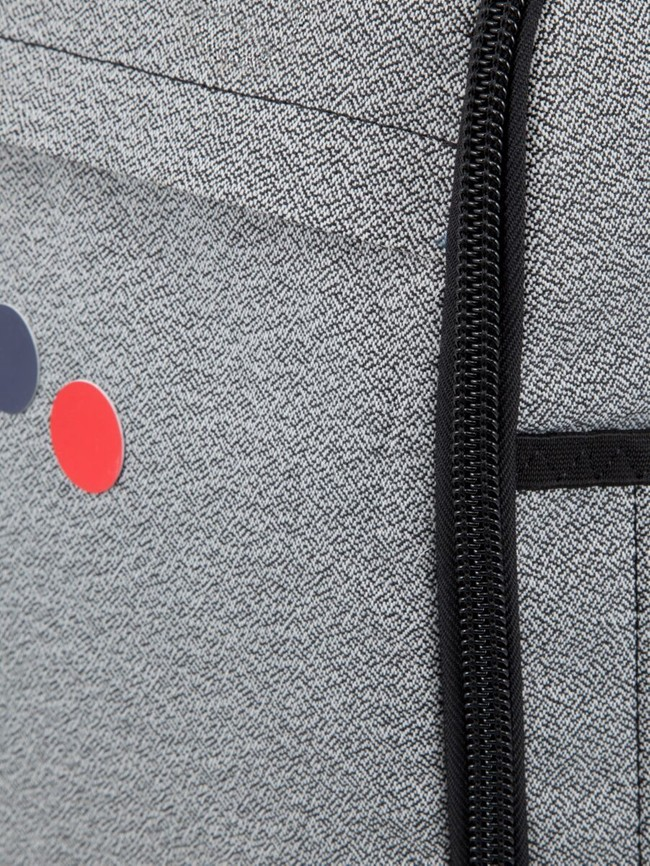 Sac à dos gris et noir en plastique recyclé - cubik medium - pinqponq num 3
