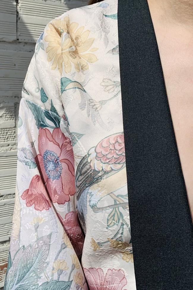 Kimbo [kimono-boléro] oiseau blanc - kool - Les Récupérables num 1