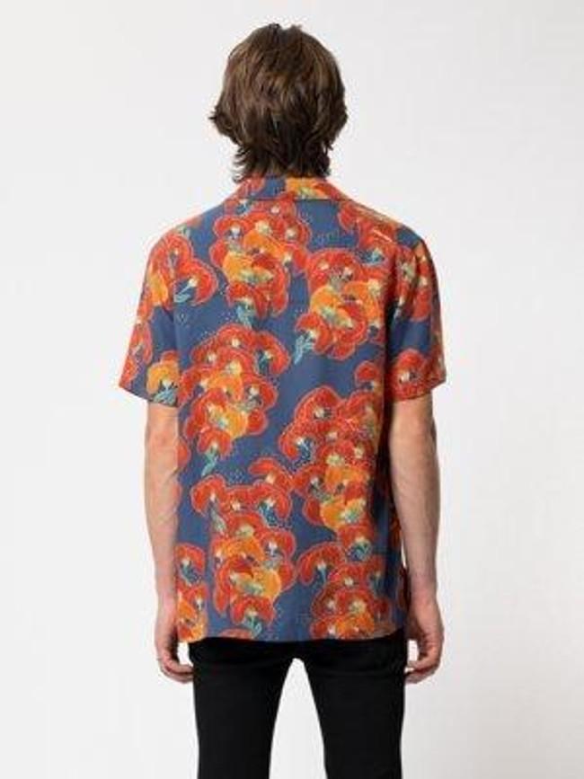 Chemise manches courtes à fleurs en coton bio  - arviid - Nudie Jeans num 2