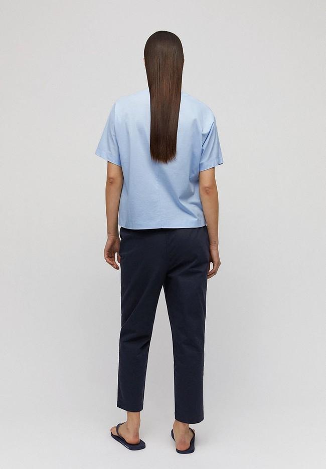 T-shirt bleu ciel en coton bio - kajaa - Armedangels num 1