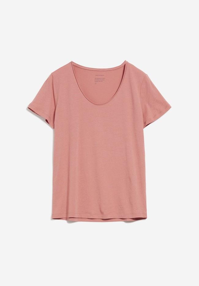 T-shirt rose en coton bio - haadia - Armedangels num 5