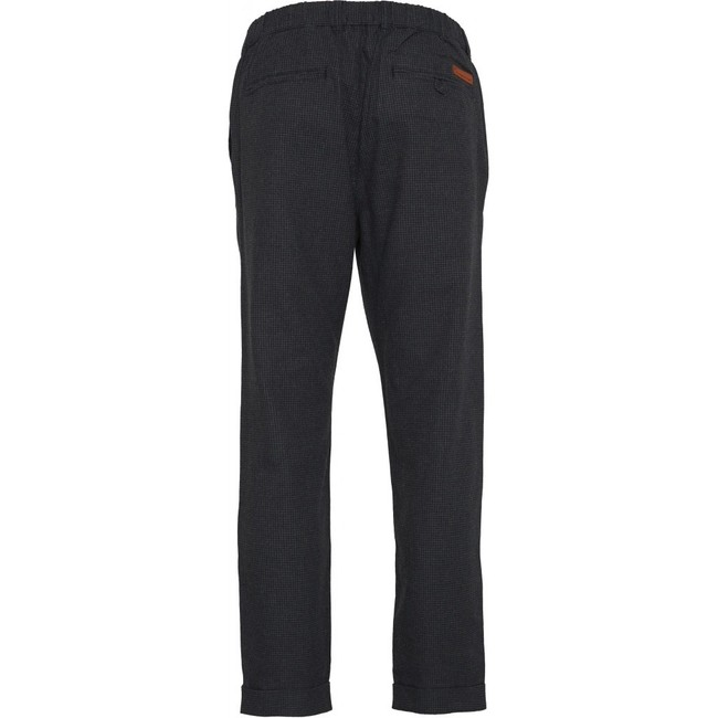 Pantalon à carreaux gris en tencel et coton bio - Knowledge Cotton Apparel num 1