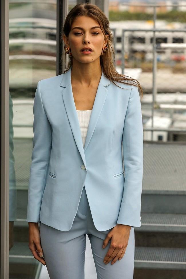 Veste tailleur paris bleu pastel - 17h10 num 3
