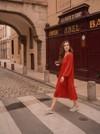 Robe couleur brique - Maison Alfa - 3
