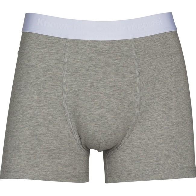 Pack t-shirt blanc et boxer gris en coton bio - Knowledge Cotton Apparel