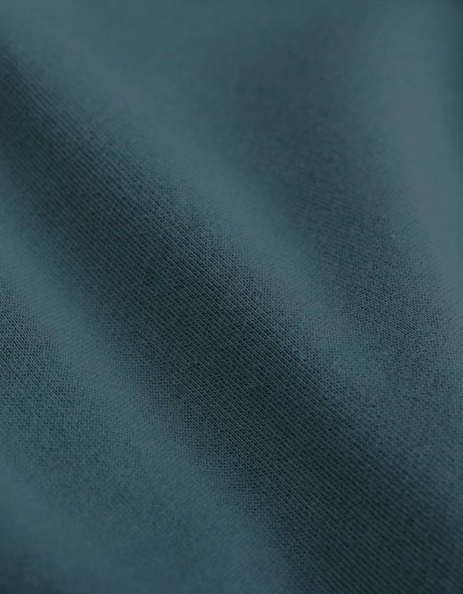 Hoodie vert d'eau en coton bio - ocean green - Colorful Standard num 1
