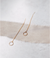 Boucles d'oreilles pendantes en or recyclé 9ct - minimal bar hook - Wild fawn