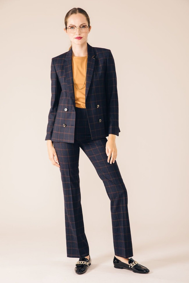 Pantalon tailleur berlin bleu d'écosse - 17h10