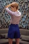 Short tailleur rome bleu roi - 17h10 - 1